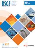 Bulletin de la Société géologique de France - BSGF - Earth Sciences Bulletin Image de couverture